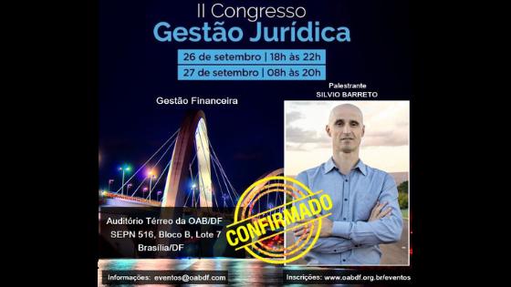Silvio Barreto – II Congresso de Gestão Jurídica – Finanças