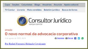O novo normal da advocacia corporativa