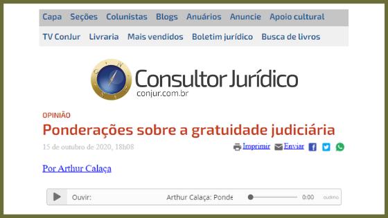 Ponderações sobre a gratuidade judiciária