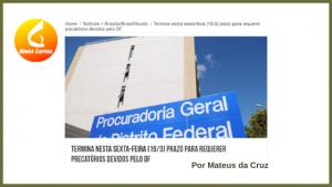 5ª Rodada de Negociação de Precatórios da PGDF