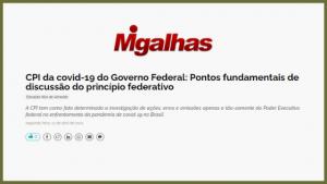 CPI da covid-19 do Governo Federal